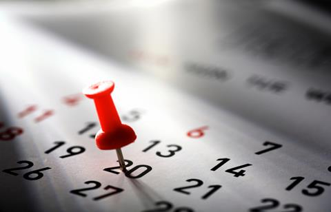 Key dates in the tax calendar