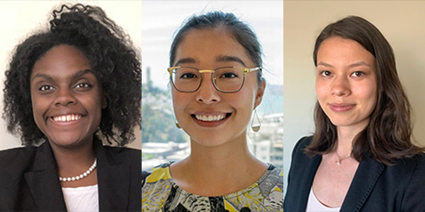 Left to Right: UCLA Law students Regina Campbell, Kaysie Gonzalez, and Galyn Sumida-Ross