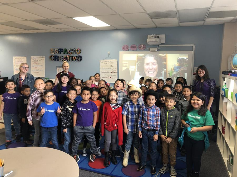 College View Elementary School second graders from Denver, CO spoke with Margie Turrin via Zoom during Antarctic Week. (Photo: Julia Moskowitz)