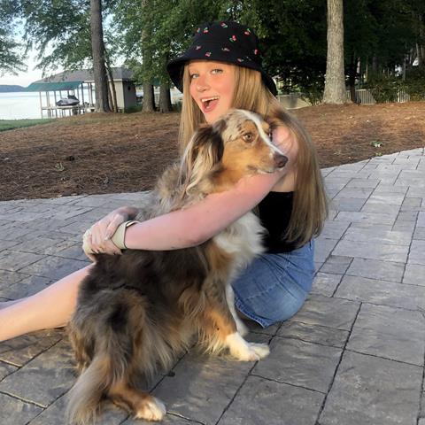 Avery at the lake