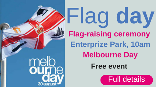 Flag-raising ceremony on Melbourne Day