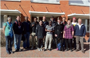 Kate Rowntree (left) and Roddy Fox (right) of Rhodes Geography with their 2013 LiU students.