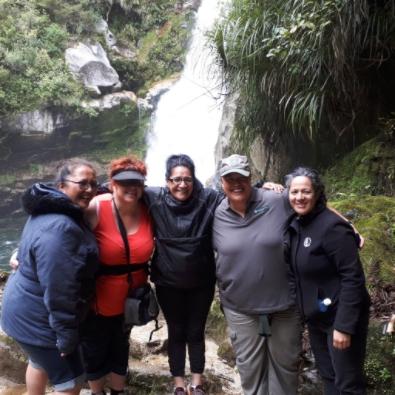 Board members at Wainui Falls.