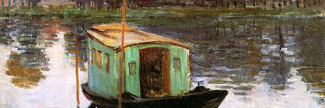 Image credit: Le Bateau-atelier (detail), 1874, by Claude Monet (1840-1926), Kröller-Müller Museum, Otterlo, Netherlands.