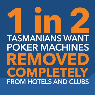 1 in 2 Tasmanians want poker machines removed completely from hotels and clubs