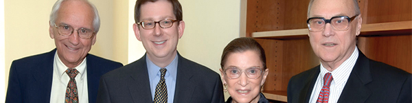 Justice Ruth Bader Ginsburg with her husband Martin and UCLA Law faculty