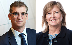 IBAC Deputy Commissioner David Wolf and Municipal Association of Victoria CEO Kerry Thompson