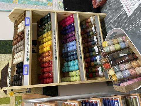 Valdani threads at Cary Quilting