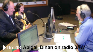 Listen to Abigail Dinan's 3AW interview