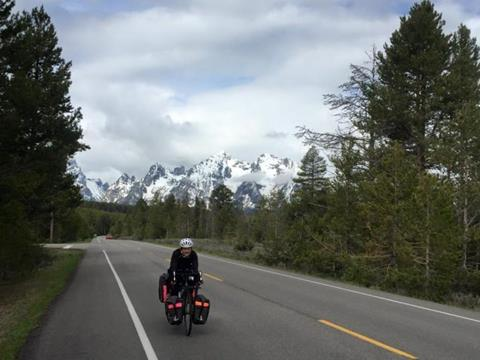 Elizabeth Hillary Case on a Cycle for Science trip