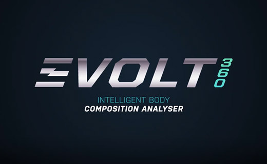 Evolt360 image with text saying intelligent body composition analyser