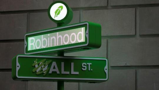 A Robinhood sign