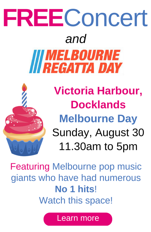 Free all-ages concert and Melbourne Regatta, Docklands, Melbourne Day 2015