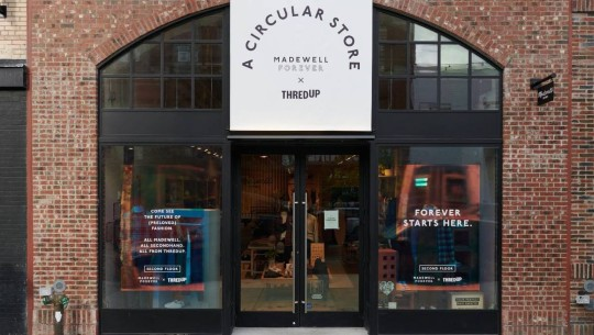 Exterior of Madewell and ThredUp's A Circular Store
