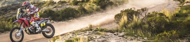 Team HRC keeps rivals in check and continues to lead the Dakar 2015 after three stages