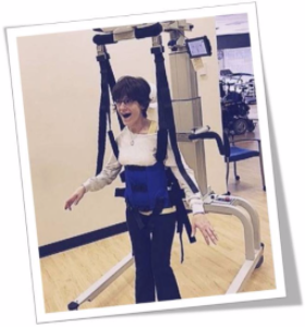 Layla walks with LiteGait