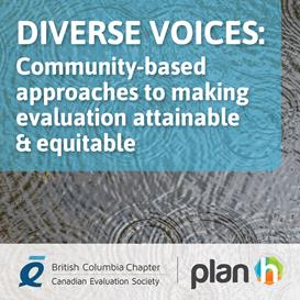 """Title card for a webinar recording titled """"Community-based approaches to making evaluation attainable and equitable"""""""