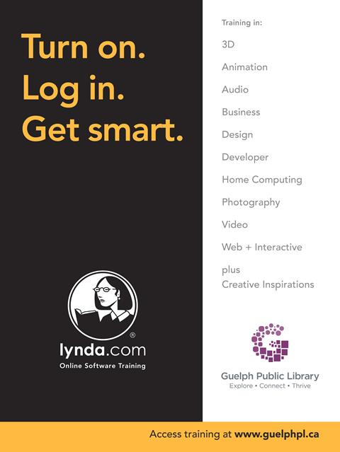 Use your library card to delve into an endless stream of courses and more with lynda.com at your fingertips!