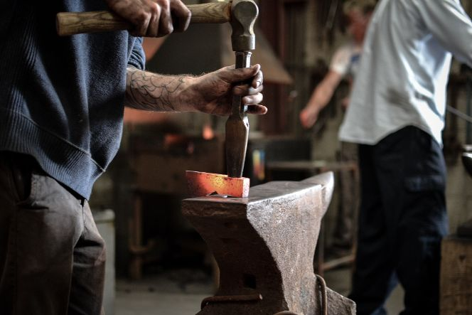 Axe forging workshop