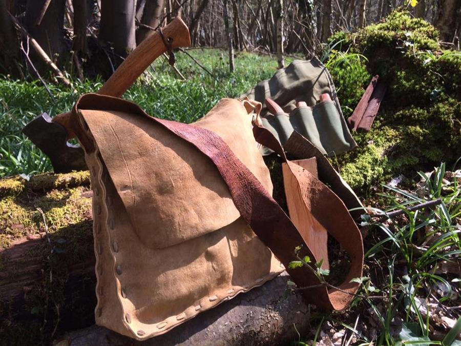 Handmade bucksin bag