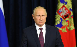 Vladimir Putin addressing participants andguests oftheArmy 2018 forum in Moscow.Kremlin