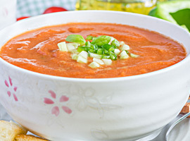 Picture of: Golden Gazpacho Soup
