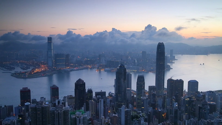 Here is a photo of Hong Kong from above