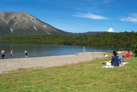 Picnicking at Kerr Bay.