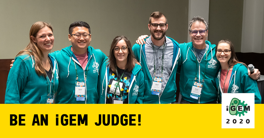 "img: ""Be an iGEM Judge! iGEM 2020"""