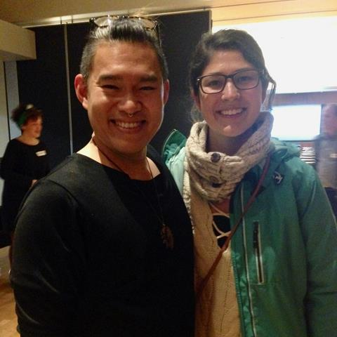 A picture of Francis Heng with BC Healthy Communities staff member Diana