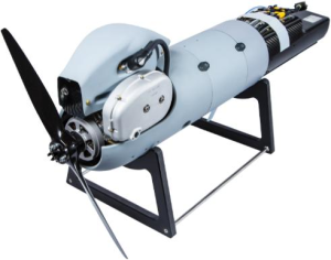 Orbital's N20 heavy fuel propulsion system is fielded as an integrated self-contained package including compact fuel and oil tank modules to simplify UAS assembly and allow in-field servicing. Credit: Orbital Corporation
