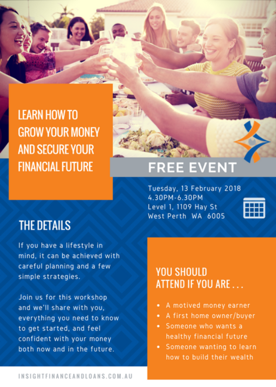 Upcoming Event - Learn how to grow your money - 13 February 2018