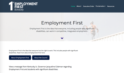 Image of Employment First website.