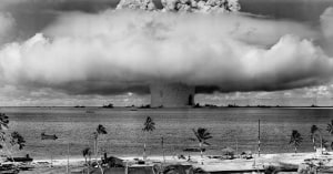 A US nuclear test at Bikini Atoll in the Marshall Islands. Wikimedia Commons
