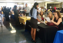 Job Seekers and Employers at Job Fair