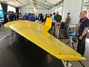 The Sun Ray underwater flying wing on display at Autonomous Warrior.