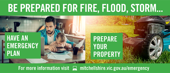 Be prepared for fire, flood, storm. Have an emergency plan. Prepare your property.
