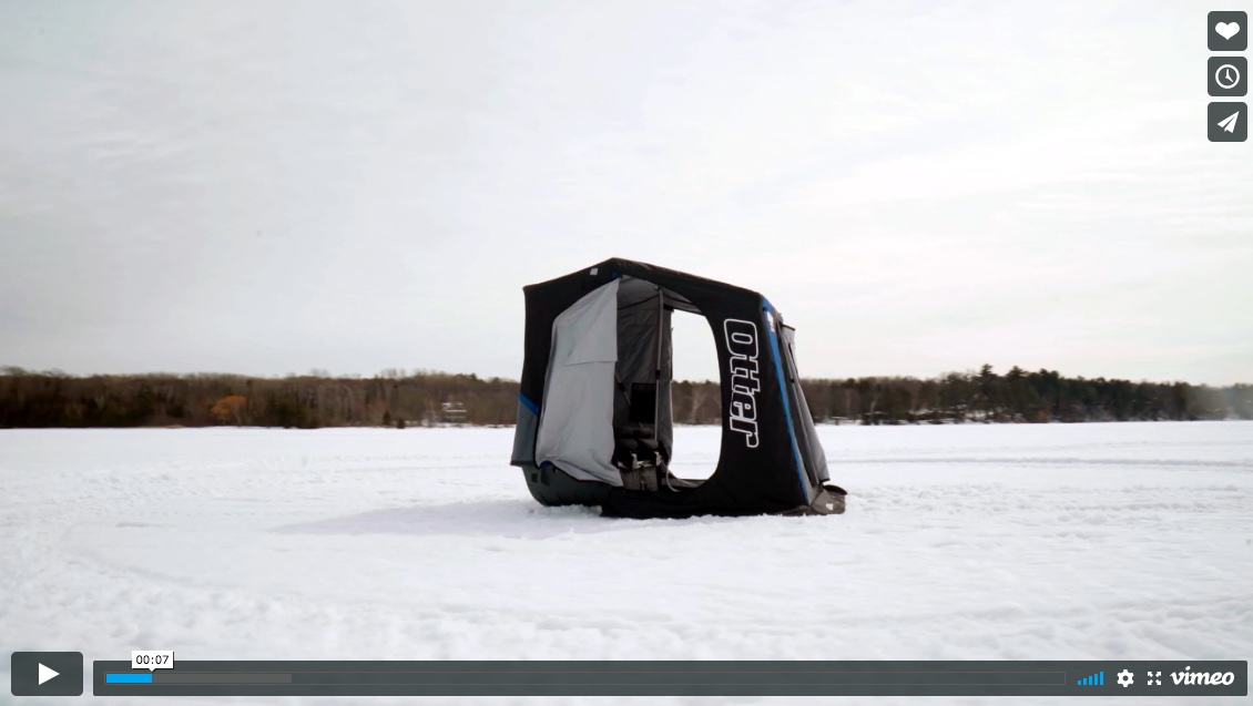 The New Otter X-Over Series Ice Shelters