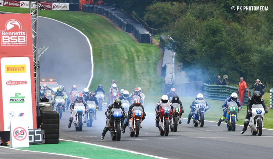 Another bumper GP Originals two-stroke grid at Castle Combe
