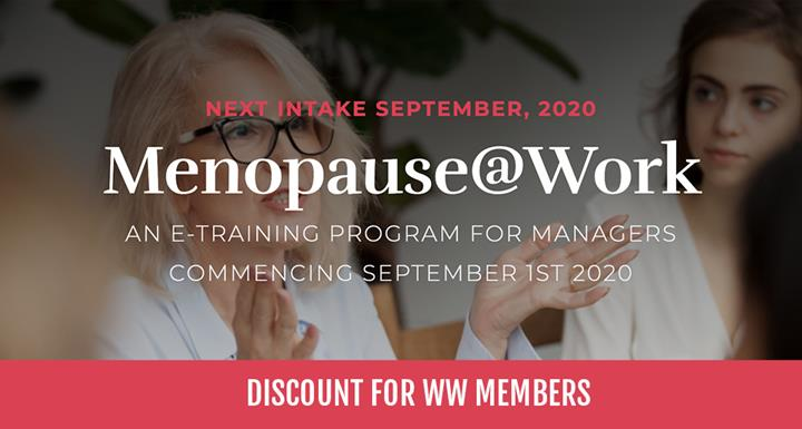 Menopause@Work E-Training Program for Managers