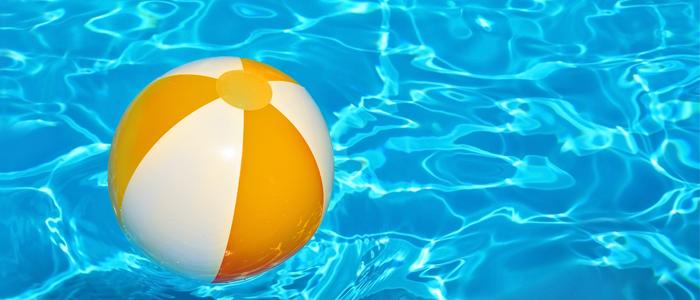 Beach ball on water