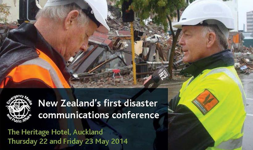 New Zealand's first conference dedicated to disaster communications.