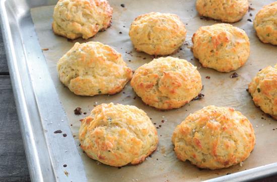 Asiago cheese scones