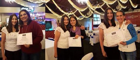 Hetal Parmar - Cake Lounge, Shaila Bhatt - Drive Smart, and Vanessa Gutierrez Maciel - Elderly IT