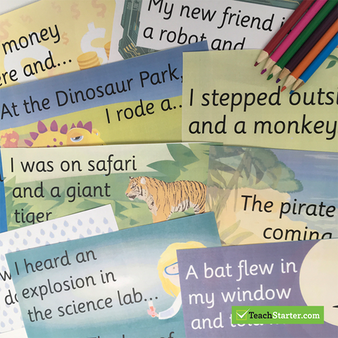 Narrative Sentence Starter Cards