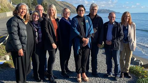Minister Whaitiri with the board