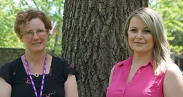 Dr. Joanna Henderson and Olivia Heffernan