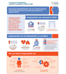The Reducing inappropriate use of antipsychotics infographic.