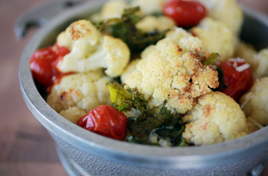 Roast cauliflower & kale