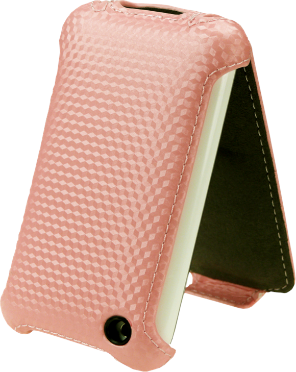Excess inventory of pink iPhone leather flip case